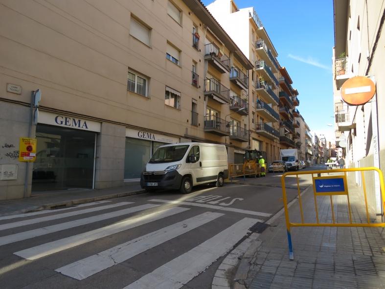 Inici de les obres al carrer de Francisco Pizarro